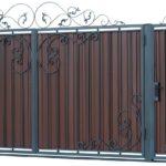Комбинированное наполнение откатных ворот