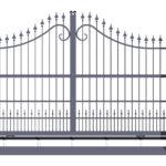 Исполнение откатных ворот решеткой